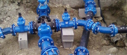 désinfecter des réseaux d'eau
